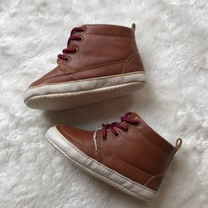 18 month Baby Boy brown lace up soft boots